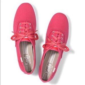 Women's hot pink keds,size 9.5